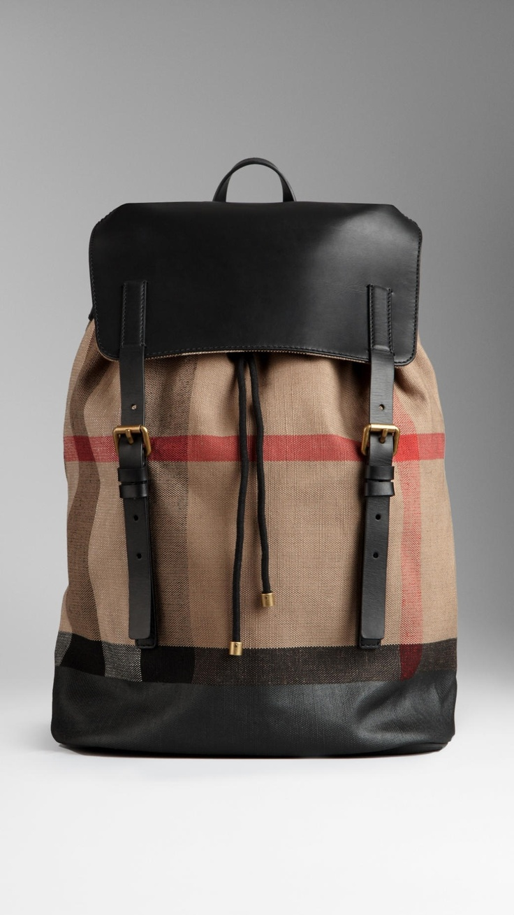 Burberry | CHECK CANVAS BACKPACK