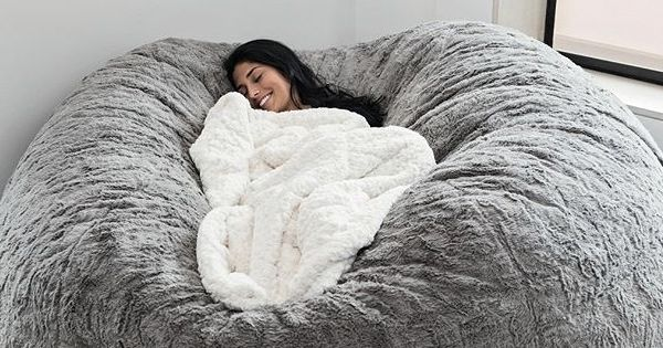 this lovesac giant pillow chair takes