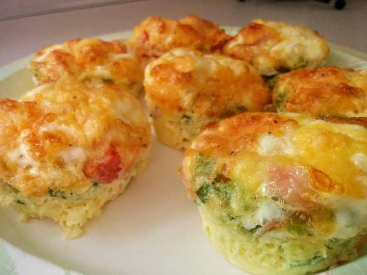 """Muffin Tin Omelets! """"Found this recipe on the internet.  It's by no means my own, I just thought that I would share.""""  @allthecooks #recipe"""