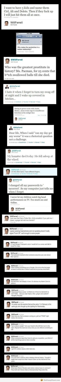 Will Ferrell: Tells it how it is.