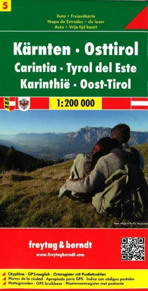 Austria, Carinthia and East Tyrol by Freytag-Berndt und Artaria