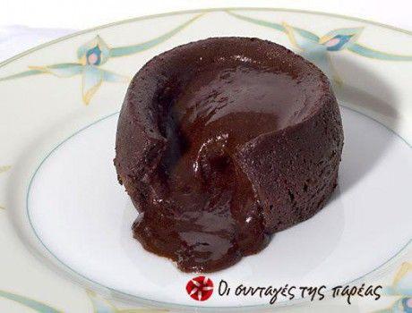 Σουφλέ Σοκολάτας (με υγρή, απολαυστική γέμιση)