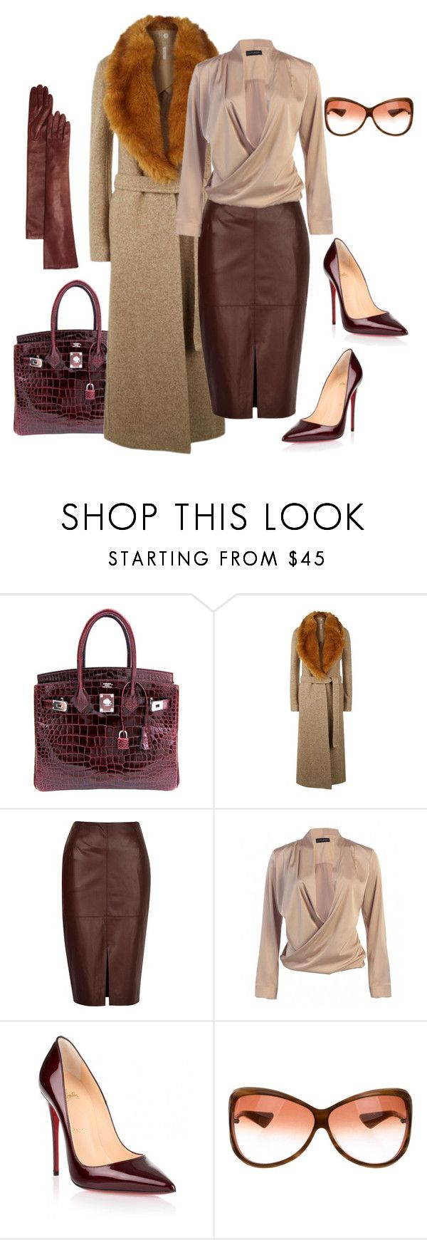 """Untitled #517"" by sanchez-drummond ❤ liked on Polyvore featuring Hermès, Helmut Lang, River Island, Christian Louboutin, Oliver Peoples and Bloomingdale's"