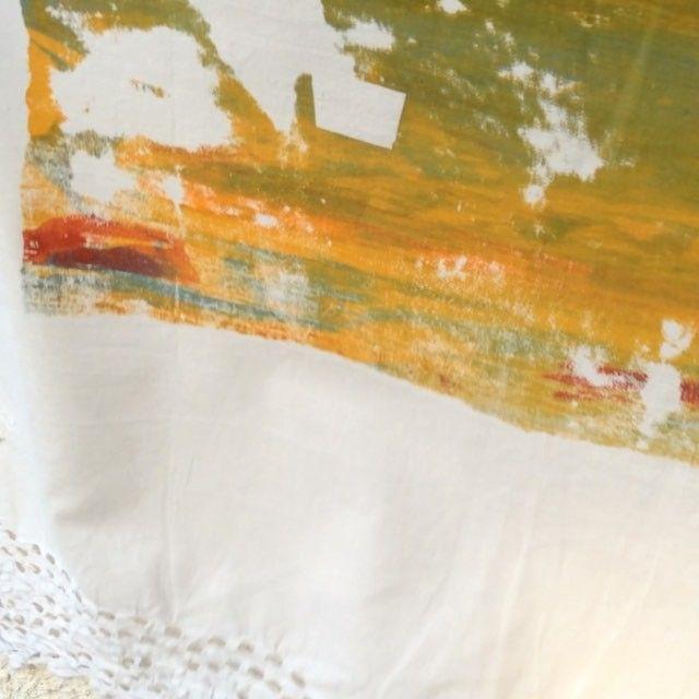 #hangingtodry #screenprinting #screenprint #fabricart #abstract #wind #motion #linen #fabric #Wind #art