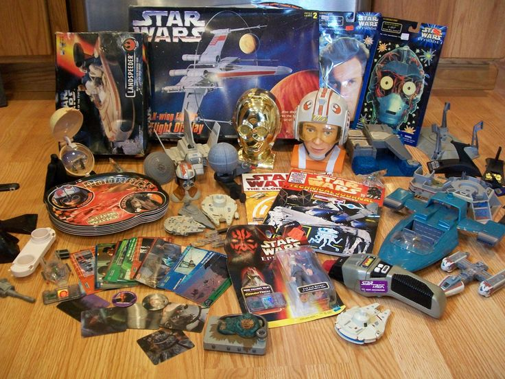 Huge Star Wars Toy Collection, Micro Machine Transformers, Figures, Force Landspeeder, X-Wing Fighter, Jabba the Hutt, C3PO, JarJar Binks by LucysLuckyDeals on Etsy