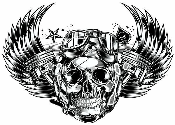 Skull & Pistons - Harley Davidson - US