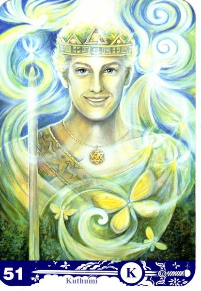 Le roi d'épées - New Aura Soma Tarot