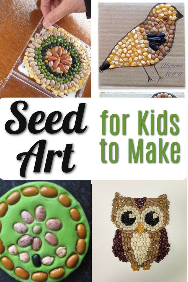 Seed Art Ideas For Kids Arts Crafts For Teens Spring Art