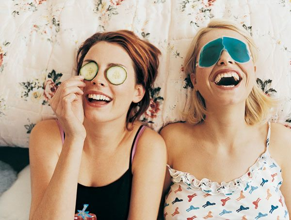 How to do a girls night out without alcohol. I've got to be honest almost everything on the list makes me think of drinking!: