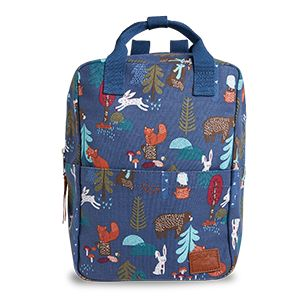 Backpack with Print Blue