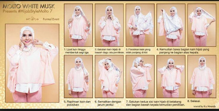 Tutorial hijab by Ria Miranda
