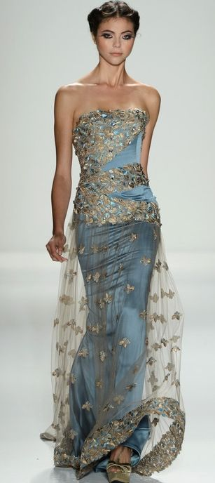 Venexiana ~ Evening Gown, Blue