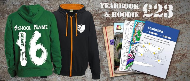 Hoodies & Yearbooks Combo Just £23 for both! Offer details: order a minimum of 100 softbound yearbooks 32pp plus a minimum of 100 College Hoodies with single rear design.