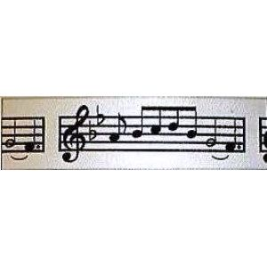 """Music Notes Ribbon - #9 ribbon is approx. 1 1/2"""" wide. Great for centerpieces, bows, gift baskets and crafts. http://www.awesomeevent.com/Music-Notes-Ribbon-P495.aspx"""