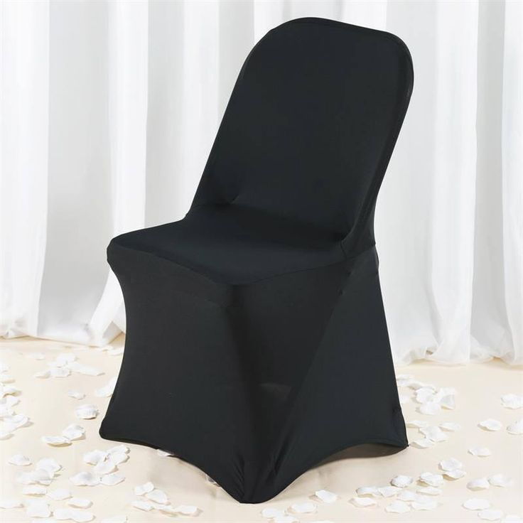 Premium Spandex Chair Cover - Black |  Our premium quality stretch chair covers offer a sophisticated, contemporary look for ordinary banquet chairs. These chair covers are crafted from a four way stretch high quality heavy duty Spandex material that stretches all the way and snuggles to fit any chair perfectly. The supreme quality fabric doesn't slip or trip over, thus adds perfection and style to your ambiance. These outstanding chair covers have amazing absorption to leakage and blotches…