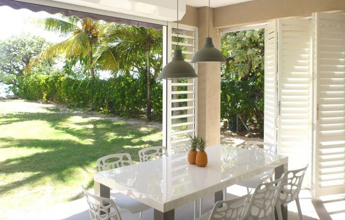 #HomeDecor #SecurityShutters #AMERICANshutters Aluminium shutters compliment this tropical paradise.