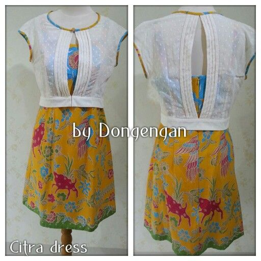 Batik Citra dress by Dongengan (Facebook: Kreasi Dongengan)