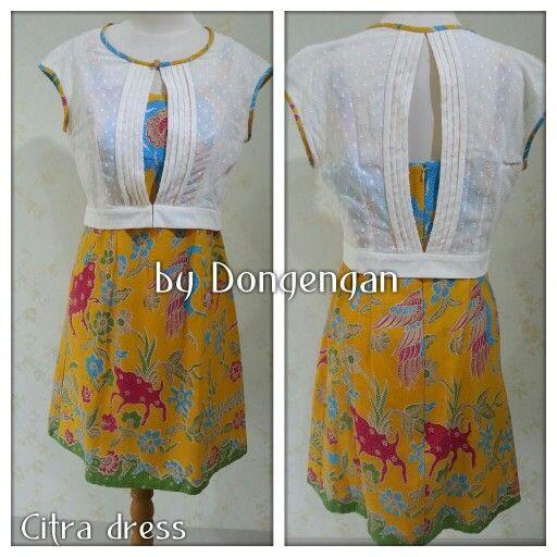 Batik Citra dress by Dongengan (Facebook: Kreasi Dongengan)