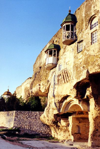 Inkerman mountain monastery in Sevastopol, Crimea - Горный монастырь Инкерман Севастополь Крым