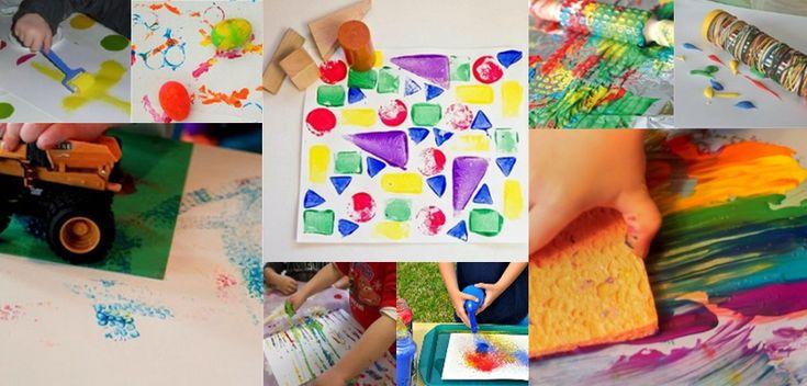 Les jeunes enfants (et les moins jeunes) aiment faire de la peinture ! Mais peindre ne signifie pas forcément de le faire avec un pinceau. Voici quelques idées pour peindre autrement avec les enfants et faire de la peinture sans pinceau. Des projets aussi très utiles pour les tout-petits afin ...
