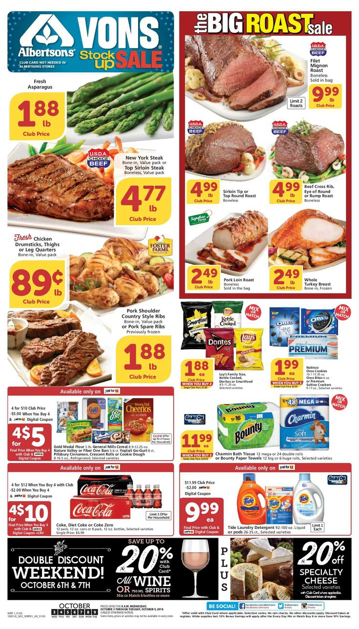 Vons Weekly Ad Flyer 02/26/20 03/03/20 Beef filet