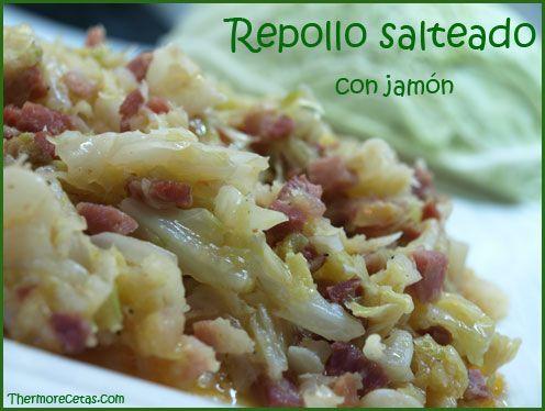 ¿Una cena rápida y sana? Prepara en menos de 30 minutos una deliciosa receta de repollo salteado con taquitos de jamón.