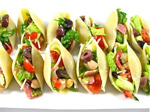Italian Chopped Salad Stuffed Shells Appetizer