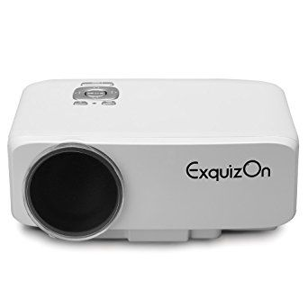 Exquizon GP9S 0.6kg 800 Lumen 800*480 LCD+LED Home Theater Video Projector Support 1080P HDMI/VGA/AV TFT-LCD Panel Display 20000hrs LED Lamp: Amazon.co.uk: Electronics