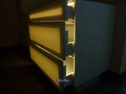 Oświetlenie szuflad