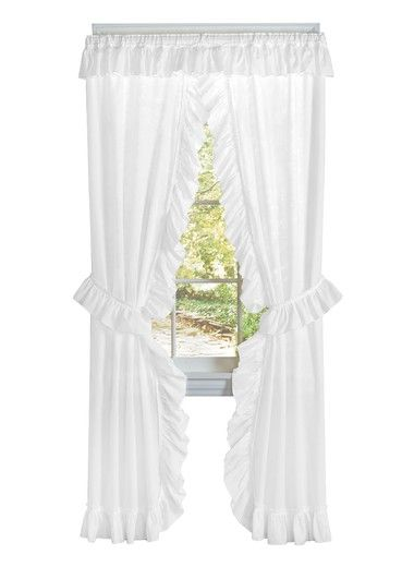 Ruffled Priscilla Curtain Set