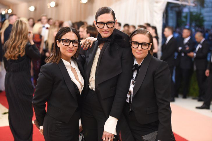 Pin for Later: The 69 Met Gala Moments You Need to See  Pictured: Jenna Lyons, lena Dunham, and Jenni Konner