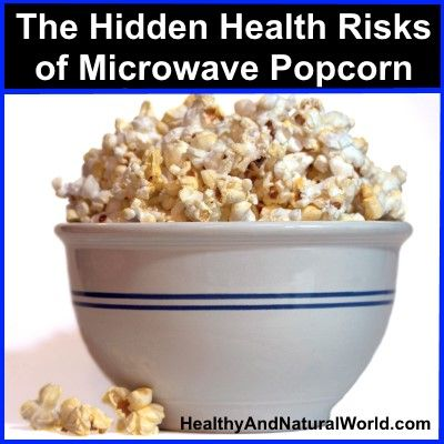 The Hidden Health Risks of Microwave Popcorn #diacetyl, Popcorn lung', or in medical language bronchiolitis obliterans and perfluorooctanoic acid (PFOA). #PFOA gets released from the coating and is ingested.