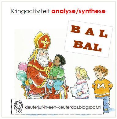 Kringactiviteit hakken/plakken. Thema Sinterklaas