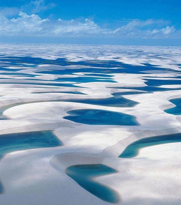 Maranhão Les dunes interdunaires du parc des Lençóis Maranhenses  Brésil