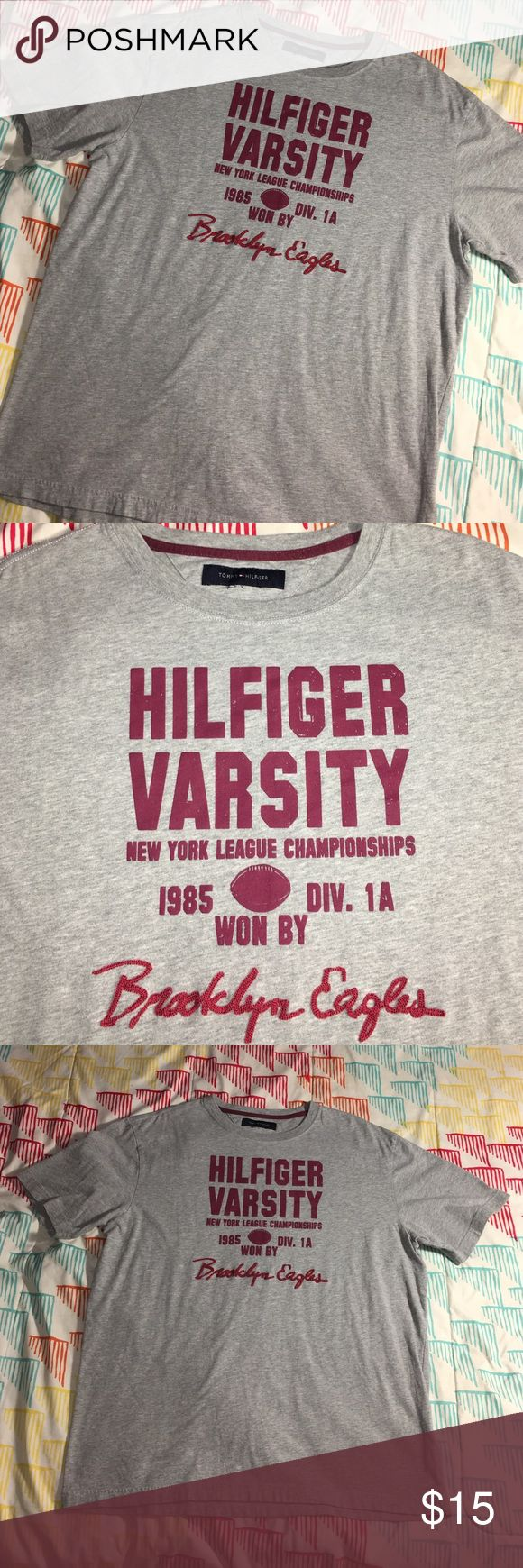 Tommy Hilfiger Varsity Brooklyn Eagles Shirt Size Men's large - condition excellent Tommy Hilfiger Shirts Tees - Short Sleeve