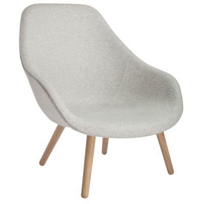 About a Lounge 92 lenestol, lysegrå/eik