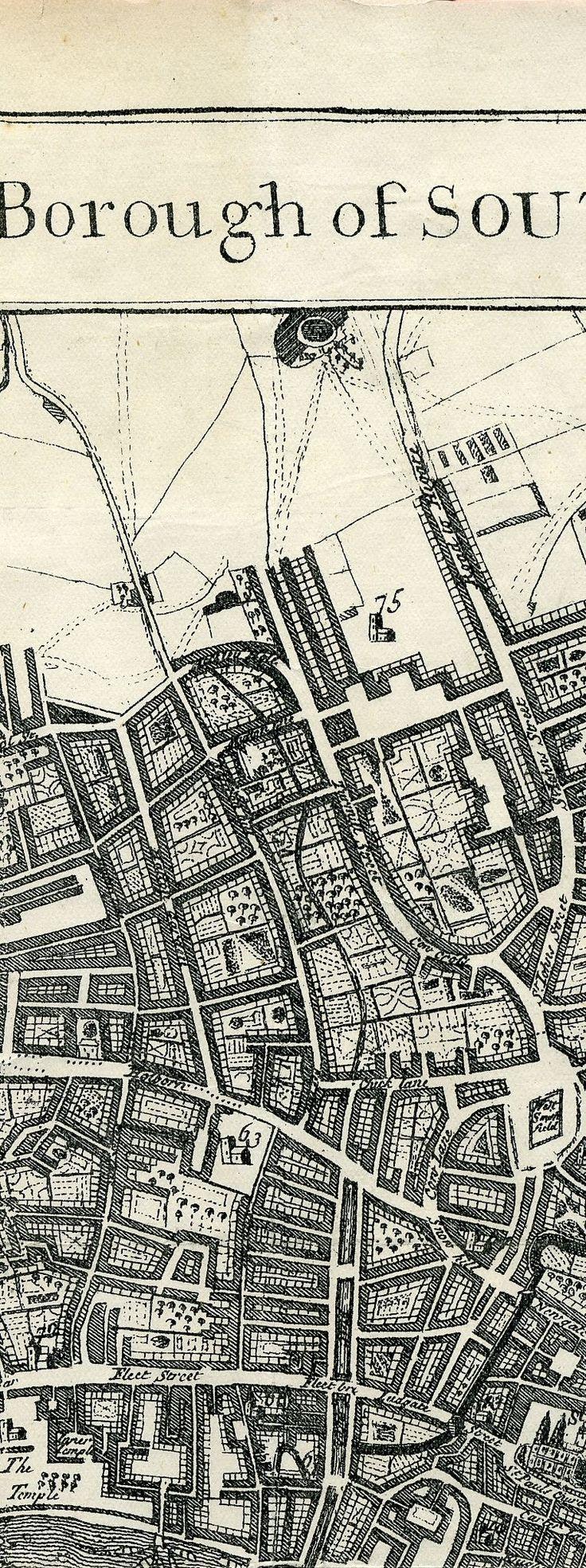 London 1720, showing Fleet River