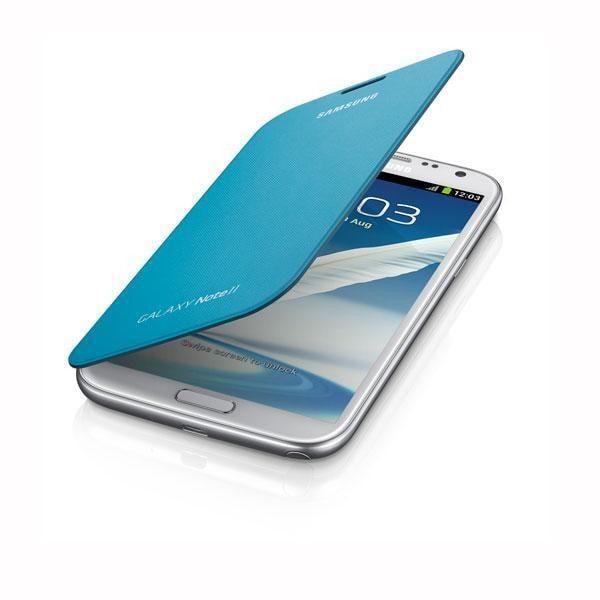 Samsung Galaxy Note II Flip Cover - Blue