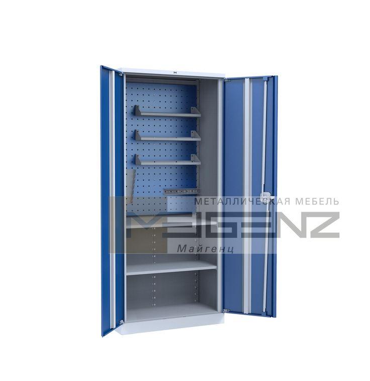 Шкаф инструментальный PRO-0.2  Чебоксары  Шкаф сборно-разборной конструкции, односекционный. Шкаф укомплектован перфорированным экраном, двумя полками, держателем ключей, отверток и полочками.