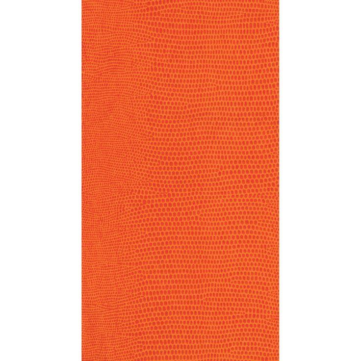 Caspari Paper Linen Guest Towel/Buffet Napkins LIZARD ORANGE