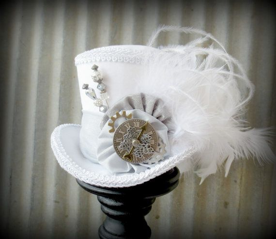 The White Rabbit in Pewter Mini Top Hat Alice in by ChikiBird,£29.87 at etsy