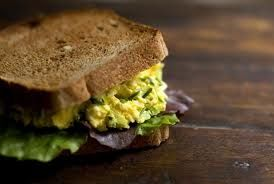 epicure egg salad: In a small mixing bowl, combine 1 chopped hardboiled egg, 1 Tbsp (15 ml) 3 Onion Dip Mix or Lemon Dilly Dip Mix and 1/4 cup (60 ml) low-fat plain yogurt or light mayonnaise. Spread filling on 1 slice of whole-grain bread. Top with lettuce leaf and a second piece of bread.