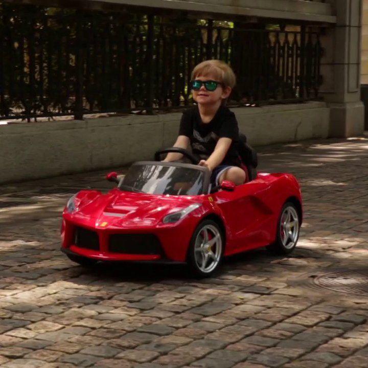12v Ferrari Laferrari Kids Electric Ride On Car Petagadget Ferrari Laferrari Electric Car Charger Cheap Sports Cars