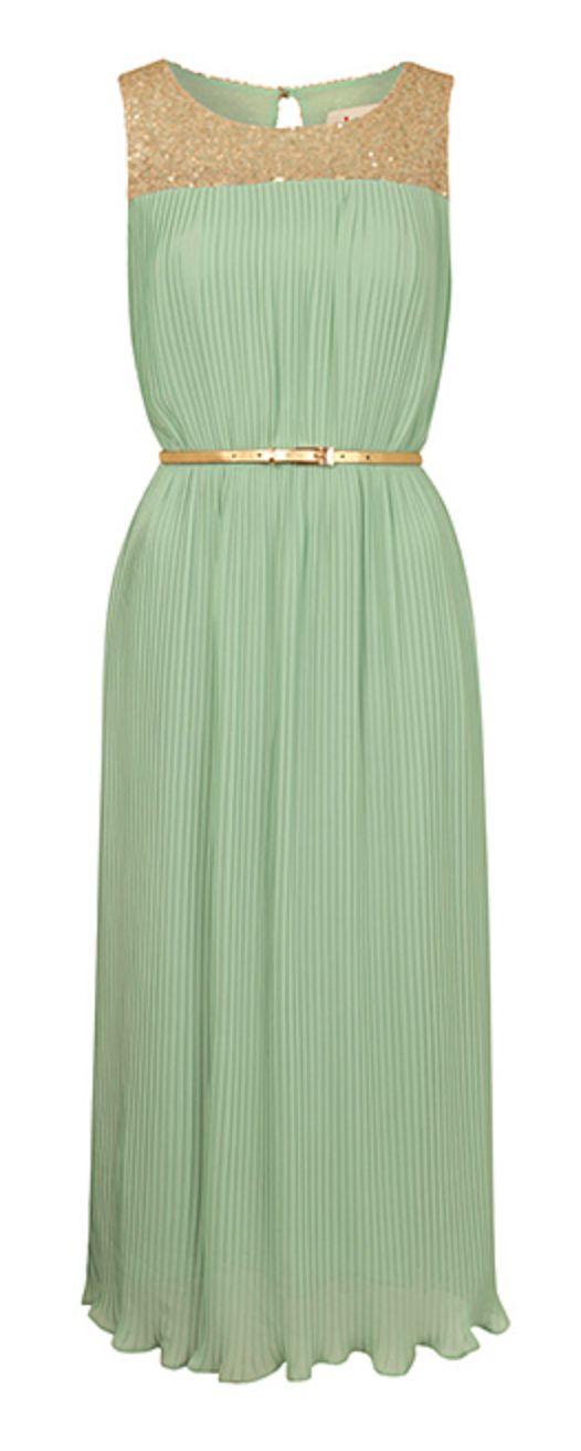 Sequined mint midi dress