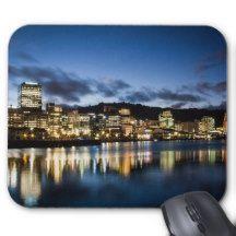 Wellington Harbour New Zealand Travel Mouse Pad