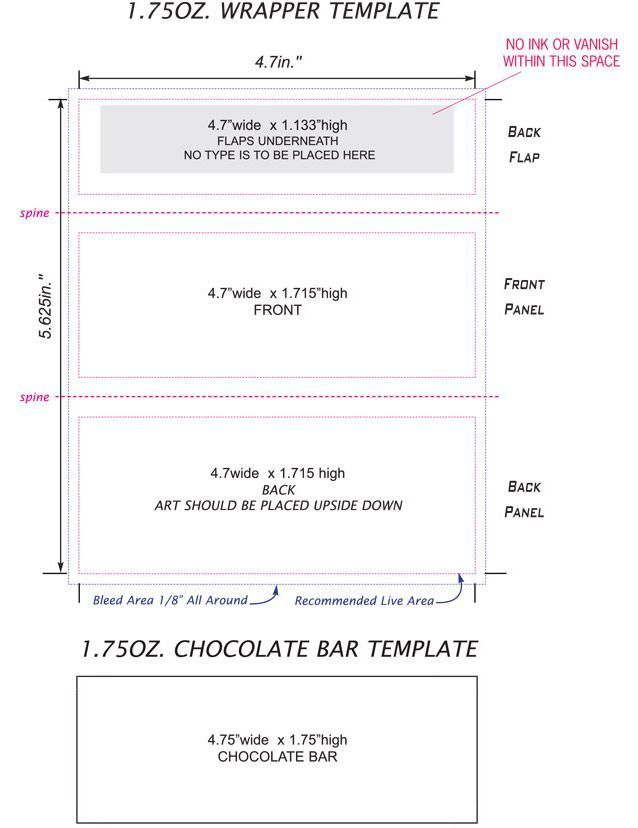 Hershey Candy Bar Wrapper Template Free Download Candy Bar
