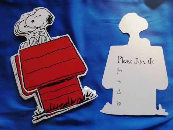 Set of 25 Snoopy 2D Invitations Peanuts Charlie Brown & door Bermarc