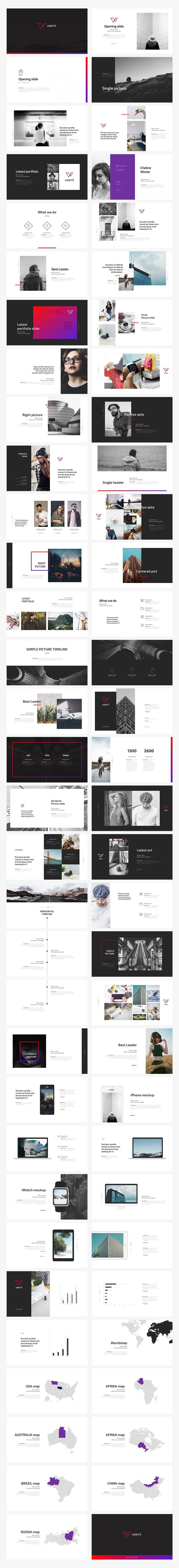 Warni PowerPoint Template by Angkalimabelas on @creativemarket