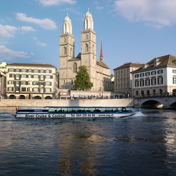 One of Zurich's landmarks: Grossmünster church