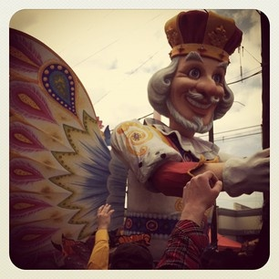 Rex rolling down St. Charles on Mardi Gras.